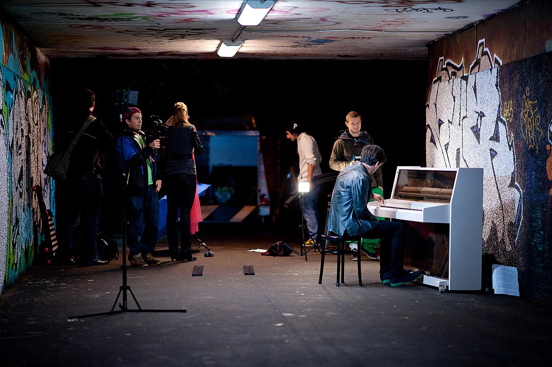 tournage du clip du duo Almage